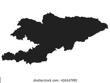 vector map of Kyrgyzstan