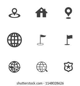 vector map, location, pin, travel navigation Icons - road gps