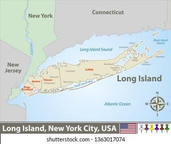 Map Of New York City And Long Island.Long Island New York Map Images Stock Photos Vectors Shutterstock