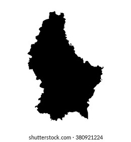 Vector map Luxembourg. Isolated vector Illustration. Black on White background. EPS Illustration.