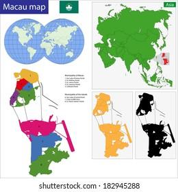 Macau Map Images Stock Photos Vectors Shutterstock