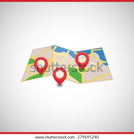 Vector Map Markers Symbols Icon Index Stock Vector Royalty Free