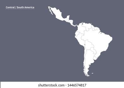Latin American Map Images, Stock Photos & Vectors | Shutterstock