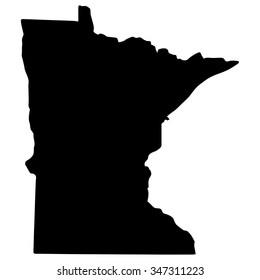 Vector map Minnesota. Isolated vector Illustration. Black on White background. EPS Illustration.