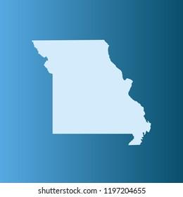 vector map of Missouri