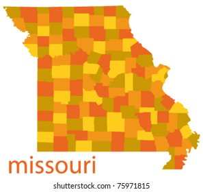 vector map of missouri, usa