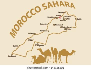 Vector map of Morocco Sahara