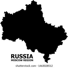 Vector Map of Moscow Region with title. Map of Moscow Region is isolated on a white background. Simple flat geographic map.