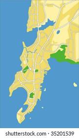 Vector map of Mumbai.