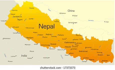 Nepal Map Images, Stock Photos & Vectors | Shutterstock