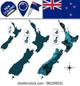 New Zealand Map In World Map.New Zealand Map Images Stock Photos Vectors Shutterstock