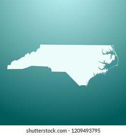 vector map of North Carolina
