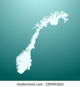 vector map of Norway