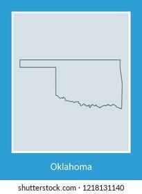 vector map of Oklahoma