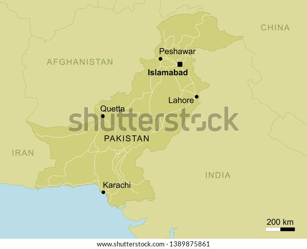 Map Of Pakistan With Cities