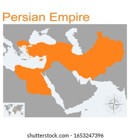 vector map of Persian Empire