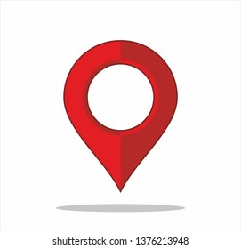 Vector map pointer icon. GPS location symbol. Flat design style. Set
