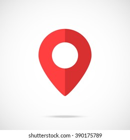 Vector map pointer, map pin icon. Modern flat design vector illustration concept for web banners, mobile app, web sites, printed materials, infographics. Vector icon isolated on gradient background