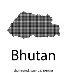 VECTOR MAP TO THE POINTS OF BHUTAN