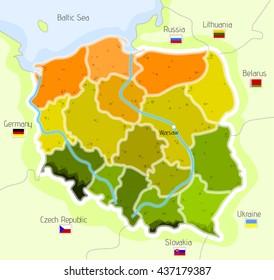 Vector map of Poland