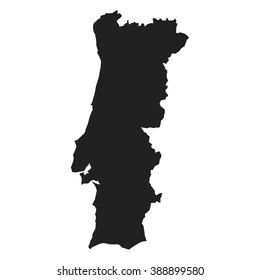 vector map of Portugal