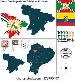 Location Of Ecuador On World Map.Vector Map Ecuador Regions Coat Arms Stock Vector Royalty Free