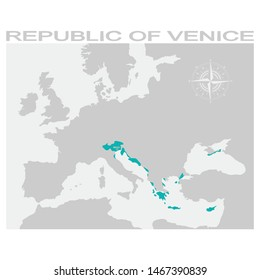 vector map of the Republic of Venice