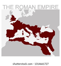 vector map of the Roman Empire