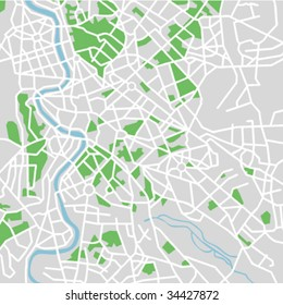 vector map of Rome