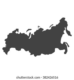 vector map Russia