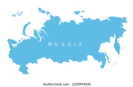 Vector map of Russia. map of the Russian Federation.