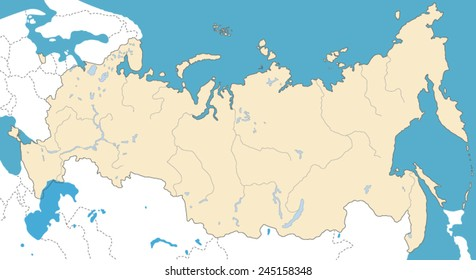 Vector Map of Russian Federation