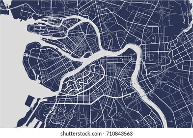 Vector map Saint Petersburg, Russia