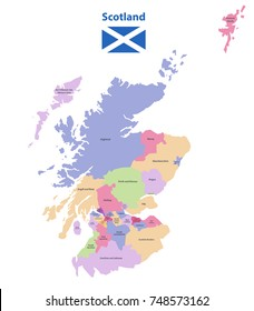 vector map of Scotland unitary authorities