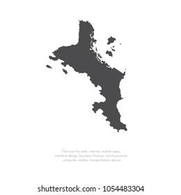 Vector map Seychelles. Isolated vector Illustration. Black on White background. EPS 10 Illustration.
