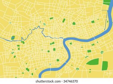 Vector map of shanghai.