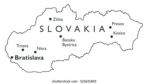 Vector Map Latvia Monochrome Contour Map Stock Vector 525627622