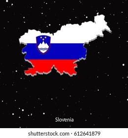 Vector map of Slovenia