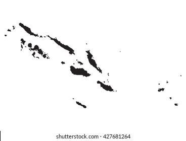 vector map of Solomon Islands