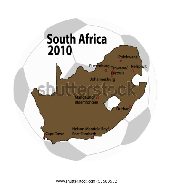 Map Of Africa 2010.Vector Map South Africa 2010 Stock Vector Royalty Free