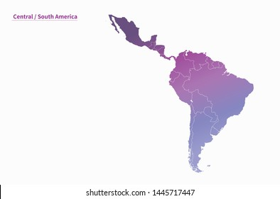 vector map of south america