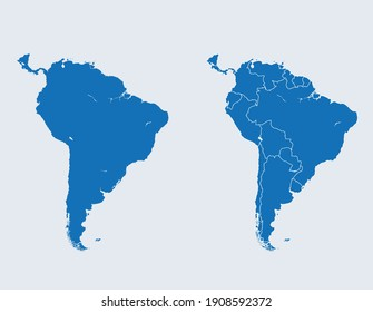 vector map of the South America