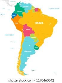 Map North South America Stock-Vrgrafik (Lizenzfrei) 258861998 ... on