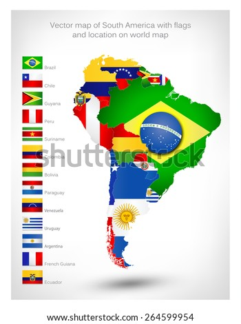 world maps of south america