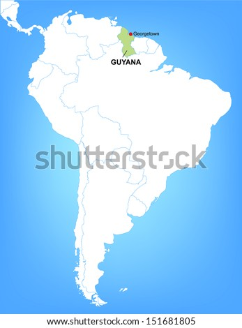 Vector Map South America Highlighting Country Stock Vector (Royalty ...