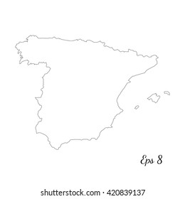 Blank Map Of Spain Regions.Spain Outline Images Stock Photos Vectors Shutterstock