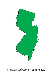 Vector Map of the State of New Jersey; Illustrator 8