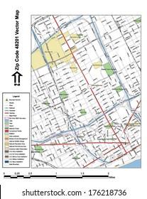 48201 Zip Code Map.Detroit City Map Images Stock Photos Vectors Shutterstock