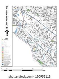 79915 Zip Code Map.El Paso Mountains Stock Vectors Images Vector Art Shutterstock