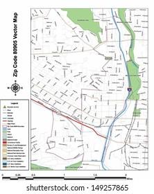 80905 Zip Code Map.Grabmaps S Colorado Springs Vector Maps Set On Shutterstock